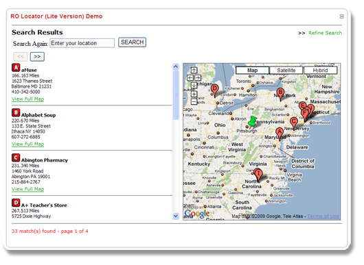 Lite Version DNN Store Locator Module